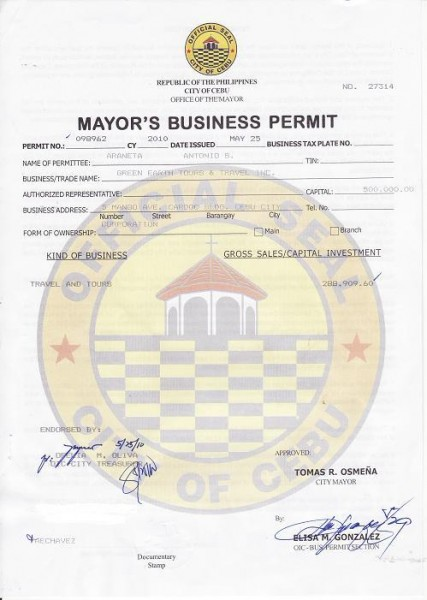 Green Earth Mayor's Permit