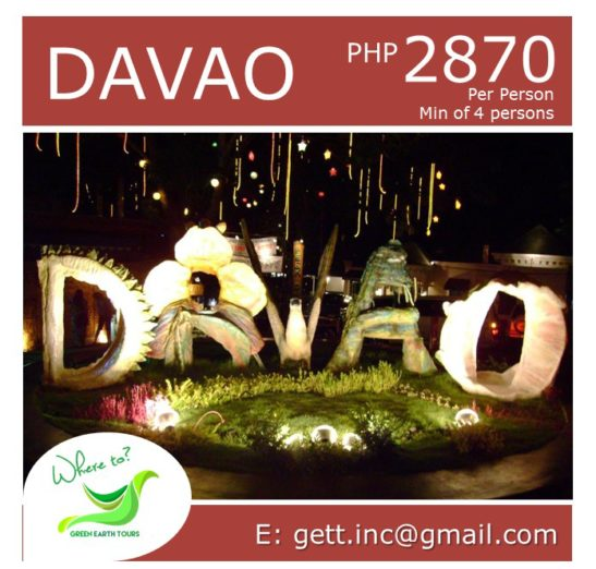 3D2N Davao Tour Package