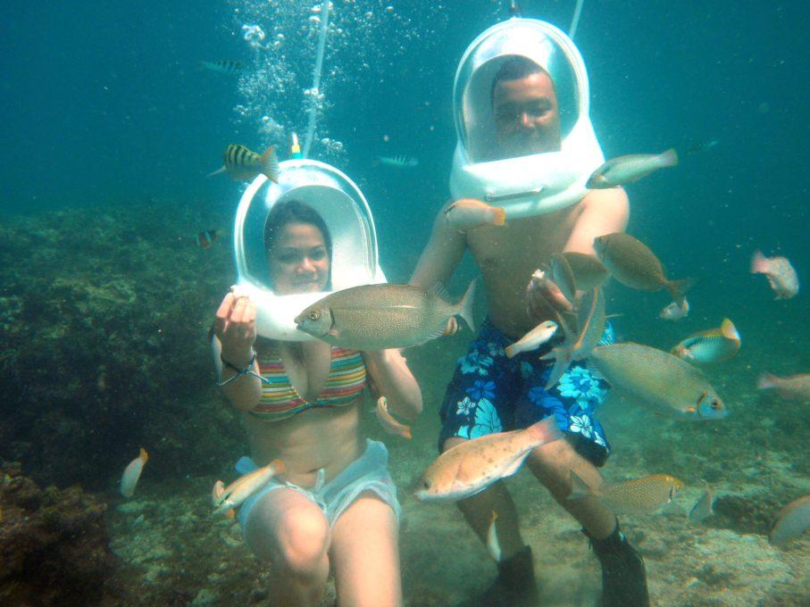Experience Helmet Diving in Cebu | Green Earth Tours & Travel