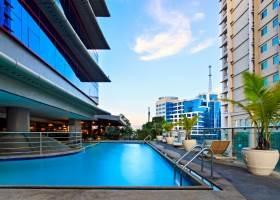 Swimming Pool Area, Parklane Hotel