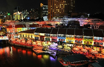 Enjoy a few drinks of beer or party the night away at Clark Quay
