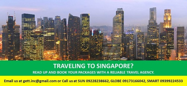 Singapore Tour Package from Manila and Cebu.