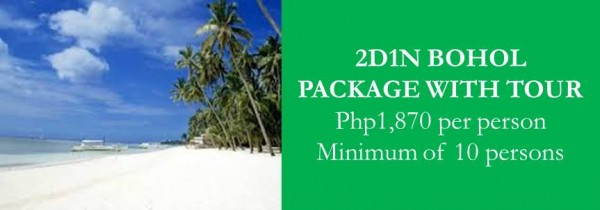 Bohol Tour Package with accommodation, tour and transfers