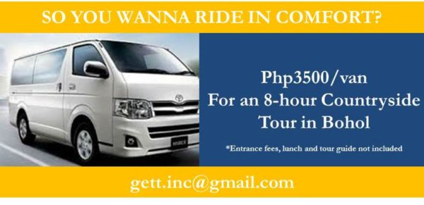 Van for Rent in Bohol